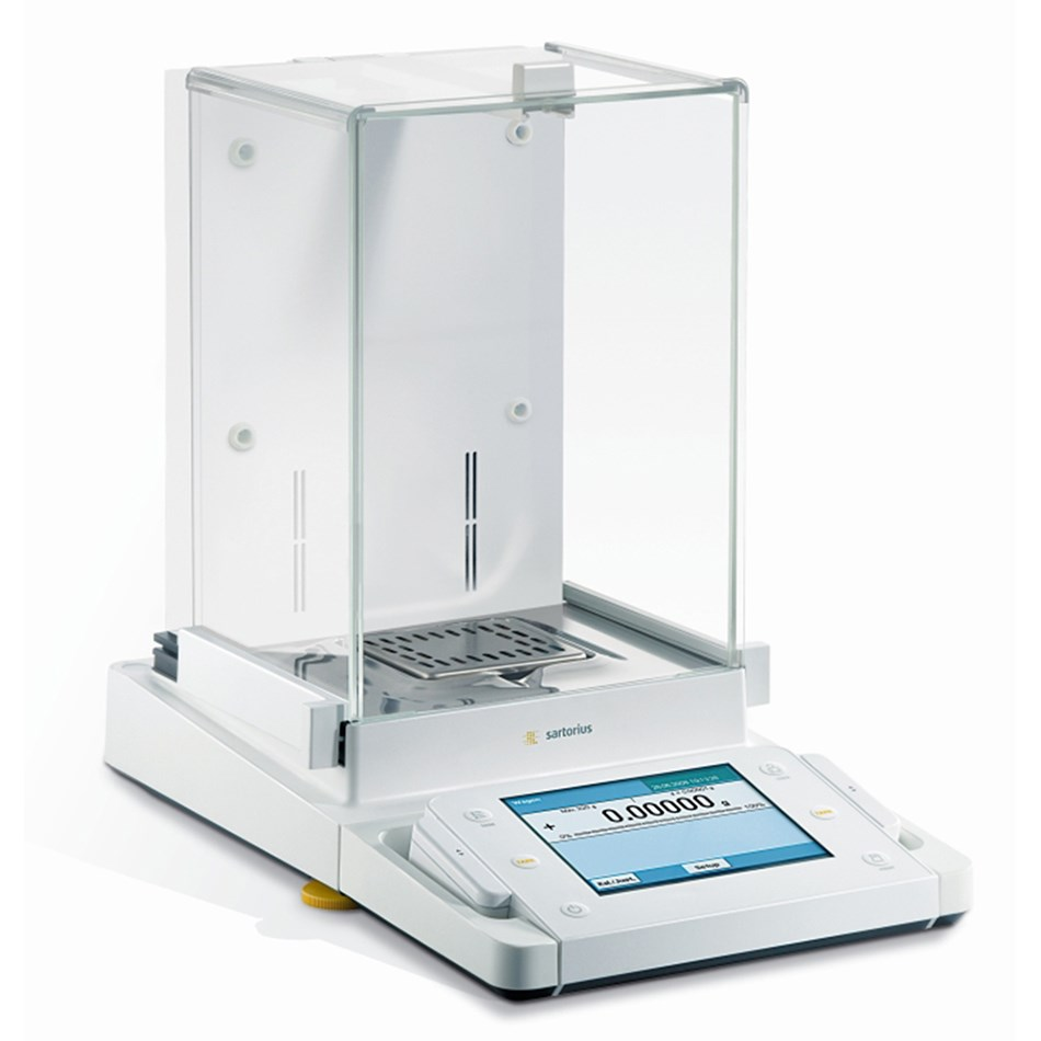 Produktphoto Cubis - Bauform Analysenwaage 0.01 mg mit integriertem Ionisator Product photo Cubis - Desing analytical balance 0.01 mg with built-in ionizer